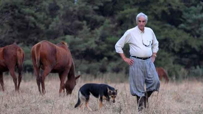 Pedro Martín Ureta, na fazenda