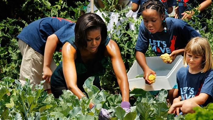 Donald Trump poderá destruir o jardim de Michelle Obama