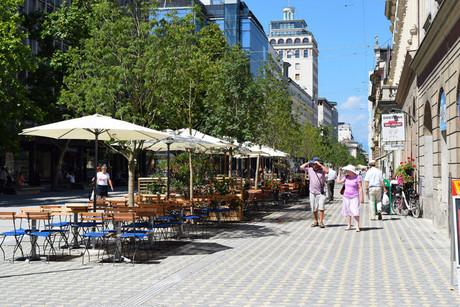 Slovenska cesta, um calçadão em pleno centro de Liubliana