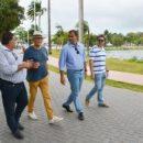 Renomado paisagista argentino visita Lagoa e Praça da Independência e elogia projetos